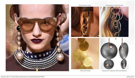 #FashionSnoops FW 17/18 trends on #WeConnectFashion. Women's jewelry theme: Intellect - earrings.