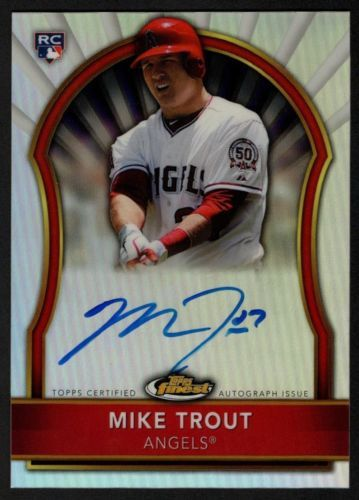 Details About 2017 Topps Finest Purple Refractor 1 Mike