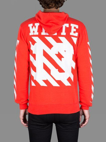 OFF-WHITE C/O VIRGIL ABLOH MEN'S EXCLUSIVE RED CARAVAGGIO HOODIE ...
