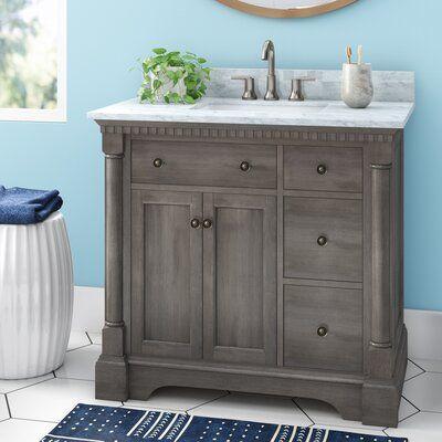 Seadrift 37 Single Bathroom Vanity Set In 2021 Bathroom Vanity Single Bathroom Vanity Vanity Organizing newly painted bathroom vanity