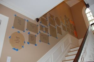 Great step-by-step guide to making a gallery wall!