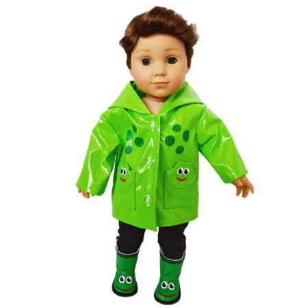 18 Inch Doll Clothes Froggy Raincoat Fits American Girl Dolls And My Life As Dolls Walmart Com American Doll Clothes Boy Doll Clothes Doll Clothes American Girl