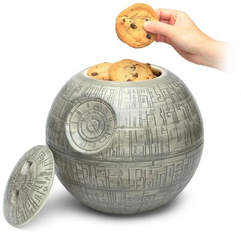 Death Star cookie jar.  A work of art AND it holds cookies.  Double win.