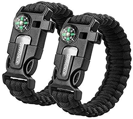 Amazon Com Sahara Sailor 2 Pack Paracord Bracelet