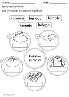 Kemahiran Kv Kv Kv Language Malay Grade Level Prasekolah School Subject Bahasa Melayu Bm M Learning Letters Preschool Worksheets Free Preschool Worksheets