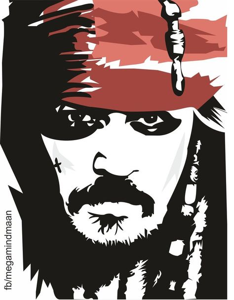 Low Res Vector Art  ~Johnny Depp~ by megamindmaan on DeviantArt