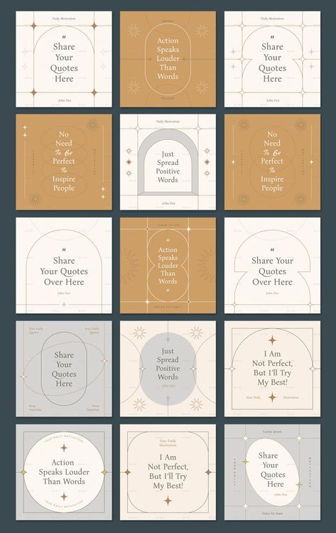 Earthy Tone Instagram Frame Templates For Quotes
