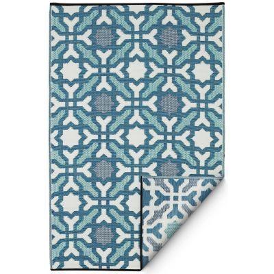 Seville Multicolor Blue Plastic Rug Fab Habitat Best Weave