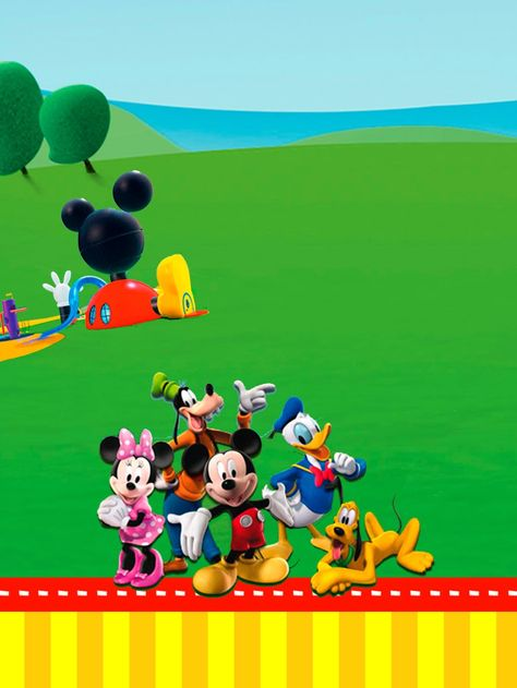 Casa De Mickey Imprimibles E Invitaciones Para Imprimir