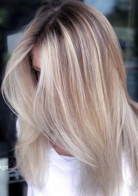 Hair Ombre Platinum Blonde Balayage 32 Super Ideas Balayage Straight Hair Balayage Hair Hair Color Highlights