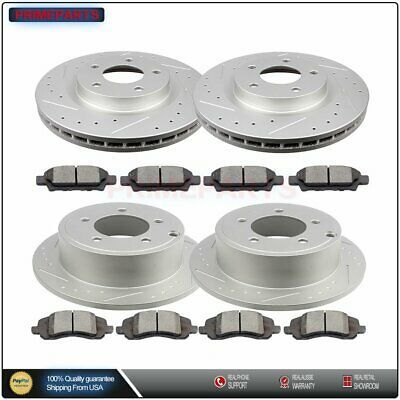 Details About Brake Rotors Ceramic Pads Front Rear Drill Slot For