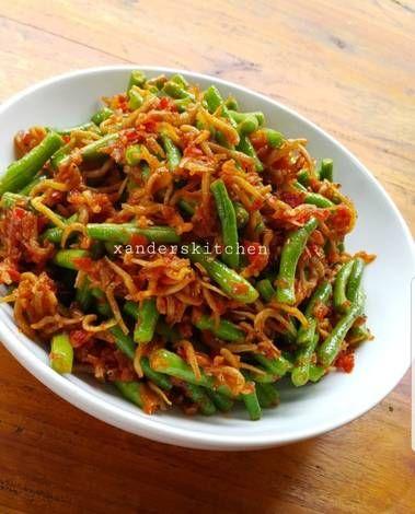 Resep Sambal Teri Kacang Panjang Oleh Xander S Kitchen Resep Resep Ayam Resep Masakan Indonesia Kacang