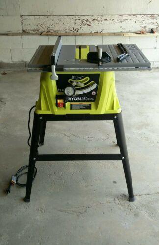 Ryobi 15 Amp 10 Table Saw Model Rts10g With Steel Stand Ebay Portable Table Saw Craftsman Table Saw Table Saw