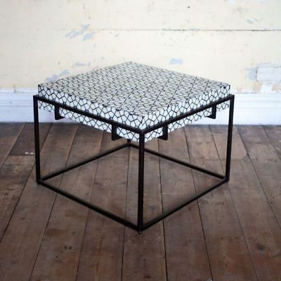 Details About Bone Inlay Iron Base Coffe Table For Home Office