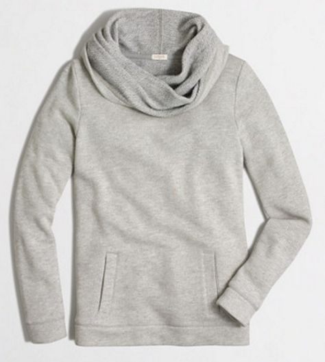 Cozy funnel neck sweatshirt