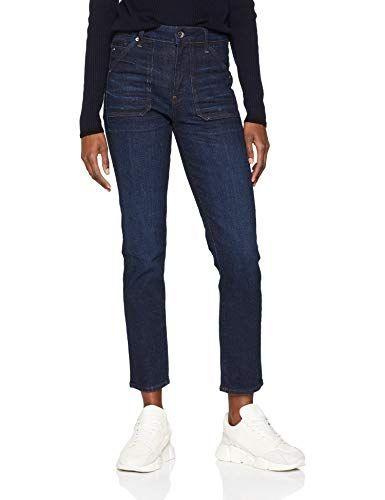 G Star Raw Damen Skinny Jeans 3301 Deconstructed High Waist Blau Medium Aged 071 W32 L30 Damen Jeans Blau
