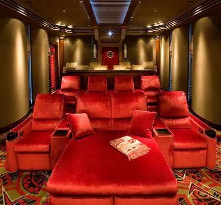 movie theater chairs for home. 20 stunning home theater rooms that inspire you | seats, red color and movie chairs for