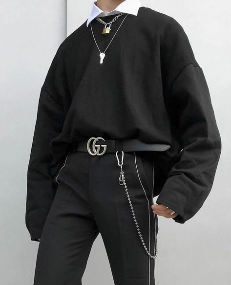 Edgy Outfits, Mode Outfits, Retro Outfits, Grunge Outfits, Korean Fashion Men, Boy Fashion, Fashion Outfits, Asian Fashion, Sneakers Fashion