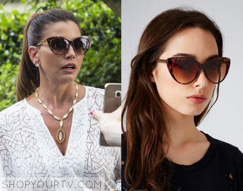06dc7d66f6af 1x3 Scream Queens Charisma Carpenter as Chanel  2′s Mom Topshop Simone Fine  Cateye Sunglasses