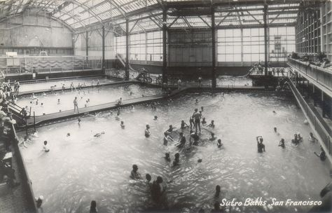 Interior of Sutro Baths S.F. 1940's (?)