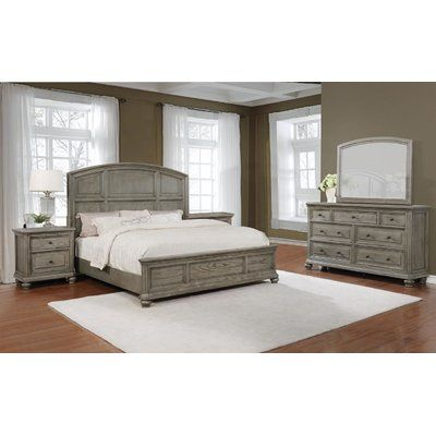 Ophelia Co Bunceton Standard 4 Piece Bedroom Set Bed Size