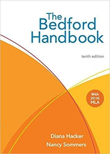 The Bedford Handbook 10th Edition Pdf Version Digital Book Mla For Writer Of Research Paper 6th Download