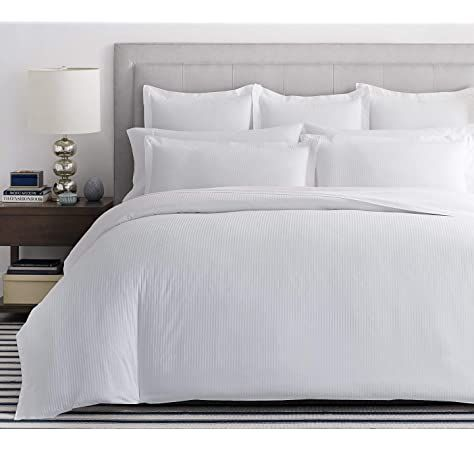 Dorchester 100 Percale Duvet Cover Bed Linen 1000 Thread Count Cotton White Double Amazon Co Uk Kitchen Home White Bedding Luxury Duvet Covers Bed