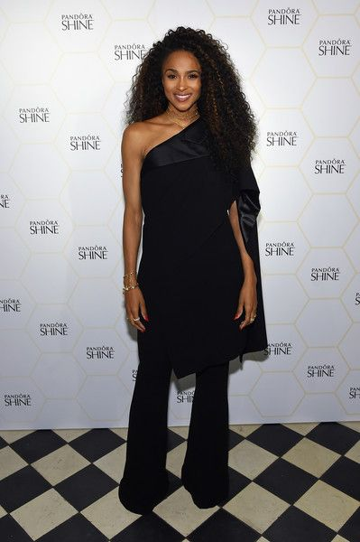 Ciara poses during the PANDORA Jewelry Shine Collection Launch in NYC.