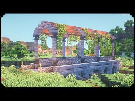 Minecraft: How to build a Bridge [Tutorial] Lego Minecraft, Minecraft Bridges, Cute Minecraft Houses, Minecraft Structures, Lego Moc, Minecraft Medieval, Minecraft Plans, Minecraft Survival, Minecraft Blueprints