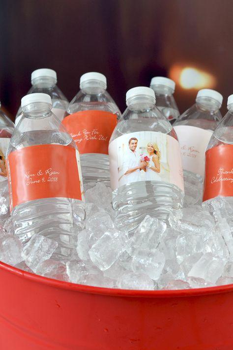 WB Wedding Reception Shower Custom Water Bottle Labels  Wedding Personalized Water Bottle Labels IL Party