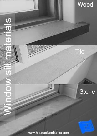 Window Sills Can Be Covered In Different Materials Here S Wood Tile And Stone Click Through To W Kitchen Window Sill Tiled Window Sill Interior Window Trim