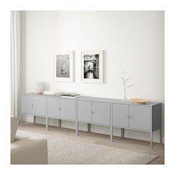 ikea ufficio catalogo propone anche delle serie di mobili, soluzioni complete per i vari complementi d'arredo dell'ufficio. Lixhult Storage Combination Gray Ikea Furniture Ikea Living Room Living Room Design Diy