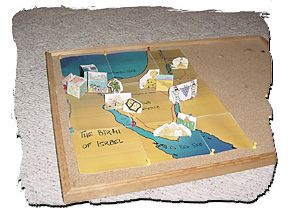 D Map Of Israelites Journey Through The Wilderness Childrens - Map of egypt 3d