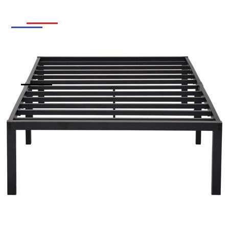 Granrest 14 Inch Strong Steel Slat Bed Frame Twin Xl Guest Dorm