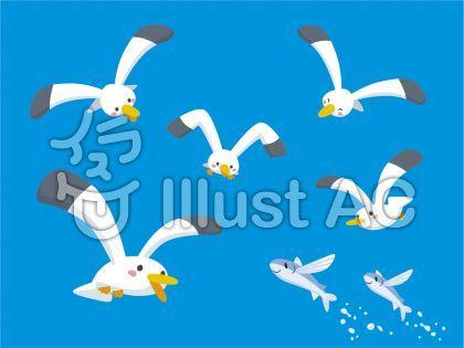 かわいいカモメのポーズセット 夏 真夏 海 トビウオ 魚 空 かわいい オシャレ セット シンプル アイコン 背景 水しぶき 躍動感 楽しい 涼しい 明るい 鳥類 青色 水色 フリー素材 イラスト No 2092277 無料イラストなら イラストac カモメ イラスト 花 イラスト