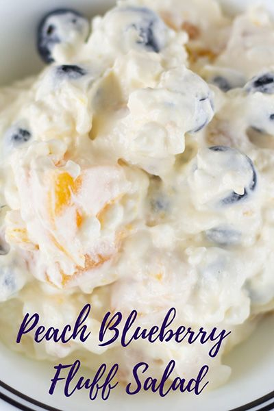 Marvelous Peach Blueberry Fluff Salad Download Free Architecture Designs Intelgarnamadebymaigaardcom