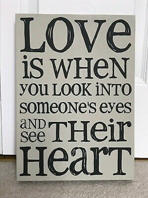Wall Art Quotes Love Is When You Look Into Someone S Eyes And See