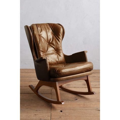 Stupendous Anthropologie Premium Leather Finn Rocking Chair 2 298 Bralicious Painted Fabric Chair Ideas Braliciousco