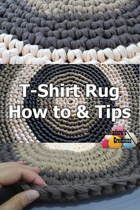 Share this:  This Free Crochet pattern teaches how to make a round rug using T shirt yarn. It also teaches you what to look for and how to make adjustments if you want to make the rug bigger.  T- Shirt Yarn Round Rug – Free Crochet Pattern This page contains affiliate links Abbreviations …