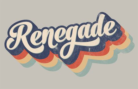 How To Create a Retro Style Striped Logo Type Effect creating a striped type effect in Illustrator, citing a retro style logo as an example. I was sure I'd created a similar effect in a recent tutorial, but it turned out to be the title art I produced … Retro Logos, Retro Font, Vintage Logos, Vintage Logo Design, Vintage Typography, Groovy Font, Vintage Branding, Vintage Designs, Retro Graphic Design