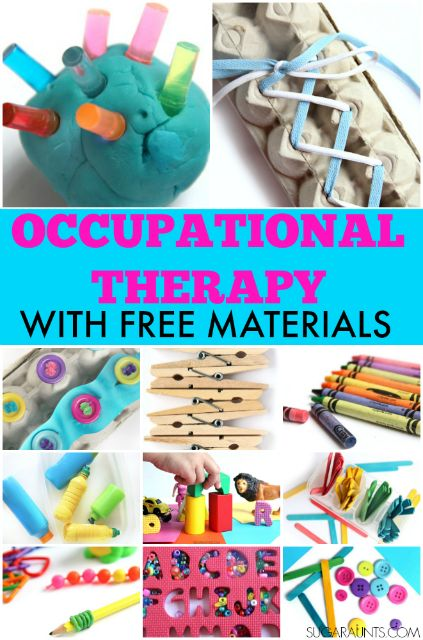Days of Occupational Therapy with Free Materials Tons of different ways to work on Occupational Therapy treatment goals using free materials.Tons of different ways to work on Occupational Therapy treatment goals using free materials. Occupational Therapy Activities, Occupational Therapy Assistant, Motor Skills Activities, Physical Activities, Gross Motor Skills, Cerebral Palsy Activities, Sensory Activities For Autism, Visual Perceptual Activities, Fine Motor Activities For Kids