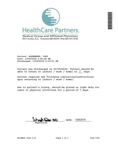 Work Release Letter From Doctor from i.pinimg.com