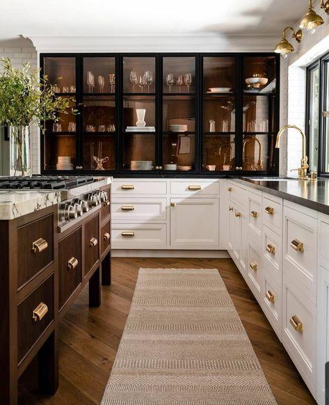 Home Interior, Kitchen Interior, New Kitchen, Kitchen Dining, Kitchen Decor, Interior Design, Kitchen Ceiling Design, Kitchen Island, Gold Kitchen