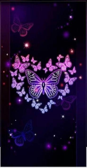 Purple Butterflies Purple Butterflies Lila Schmetterlinge Papillons Violets Mariposas Butterfly Painting Purple Butterfly Wallpaper Butterfly Wallpaper