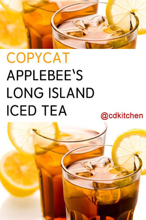 Make this classic potent cocktail just like Applebee's does. Four spirits, sweet and sour, and a splash of cola make up the drink. Long Island Iced Tea Recipe Applebees, Long Island Iced Tea Recipe Easy, Applebees Recipes, Best Long Island Recipe, Iced Tea Recipes, Alcohol Drink Recipes, Lit Drink Recipe, Iced Tea Cocktails, Refreshing Cocktails