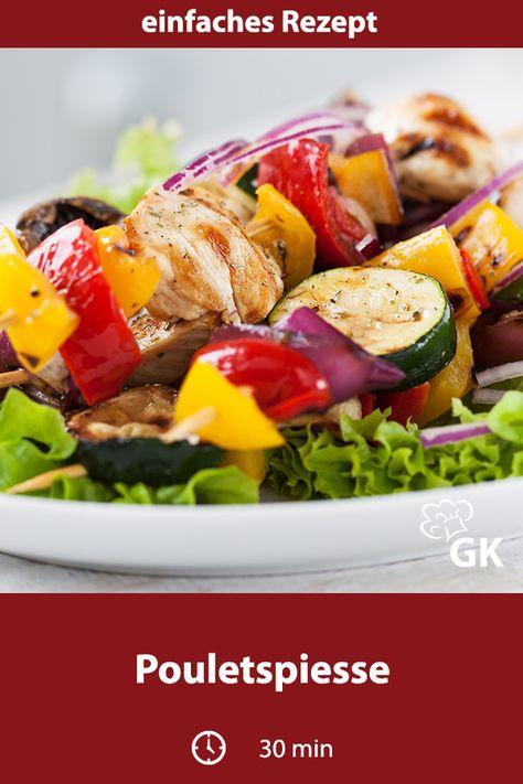 Pouletspiesse sind eine sehr bekannte und beliebte Vorspeise und ein tolles Rezept für Ihre Grillparty. #lowcarbrezept #rezept #lowcarb #lowcarbdiät #grillparty #grillrezept #pulettspiesse #spiesse #poulet #kochenmitpoulet #vorspeise #vorspeisenrezept #vorspeisengericht #gemüsespiesse #kochenfürgäste #sonntagsgrillen #grillen #kochenfürdiefamilie #familienrezept #partyrezept