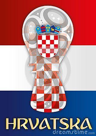 Croatia Flag Finalist Russia 2018 Vector Illustration Coat Of Arms And Name Hrvatska Croatia Flag Croatian Flag Croatia