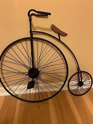 Penny Farthing Victorian High Wheel Bicycle Metal Wall Art Decor