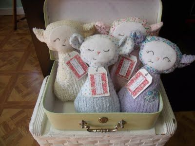 rag doll--Little lambs created by me using a bit of whimsy pattern
