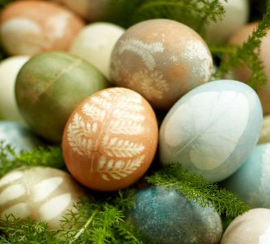 #DIY natural vegetable dyed eggs.
